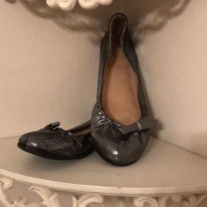 J. crew leather ballet shoes